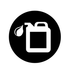 oil gallon isolated icon vector image vector image