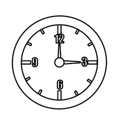 Orbed clock with time icons graphic vector