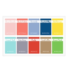 Palette colors 2016 vector