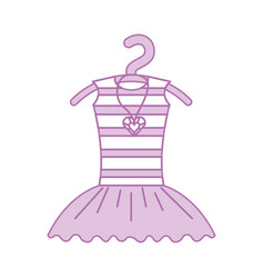 Pink tutu ballet and necklace on the hanger vector