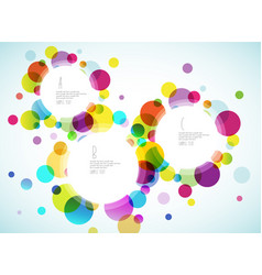 random colorful bubbles with place for your text vector image vector image