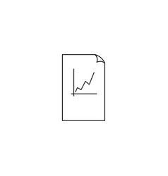 Report text file icon document with chart symbol vector