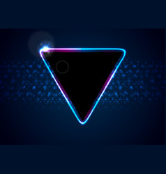 retro neon 80s shiny triangle abstract background vector image