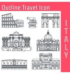 Rome landmark outline 1 vector