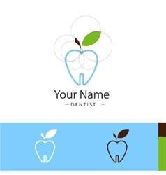 sample logo for dental surgeries vector image vector image