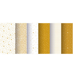 Set of seamless simple abstract patterns with vector