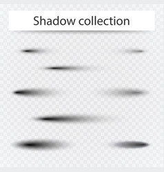 set of transparent oval shadow with soft edges vector image vector image