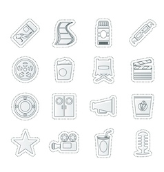 Simple Cinema and Movie Icons vector image vector image