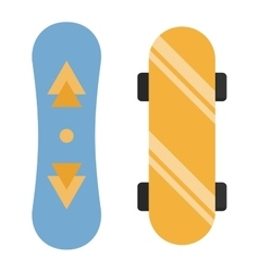 Skateboard board isolated vector image