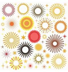 Sunny Set vector image vector image