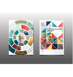 template design layoutbrochure flyergeometric vector image vector image