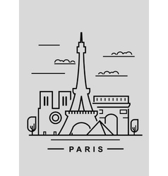 Paris and landmark vector