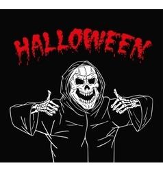 Zombie happy halloween vector