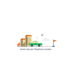 Taxi cab delivery vector