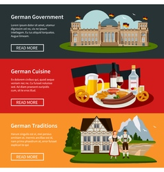 Germany flat horizontal banners vector
