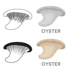oyster icon in cartoon style isolated on white vector image