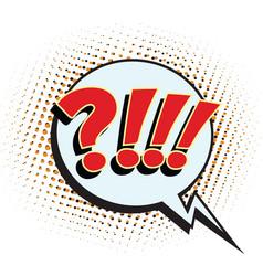 Question comic sign vector