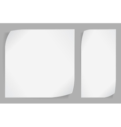 White paper stickers over gray background vector image