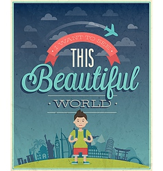 beautiful world vector image