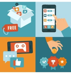Freemium business model vector