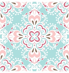 Seamless abstract floral tiled pattern vector