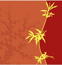yellow grass vector image