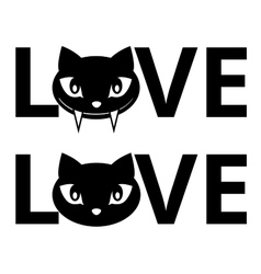 Cat love vector