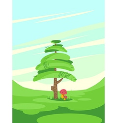 Posing tree abstract vector