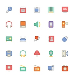 Communication icons 10 vector