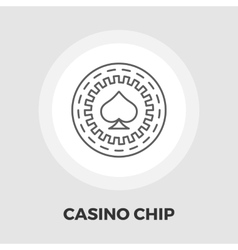 Gambling chips flat icon vector