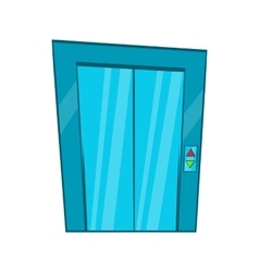 Elevator with closed door icon cartoon style vector