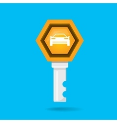 Car rent concept flat icon vector