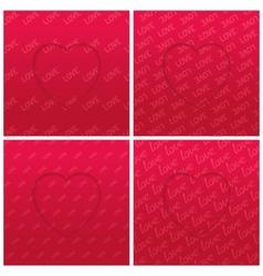 Abstract hearts set vector