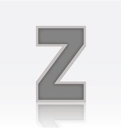 Alphabet Z vector image