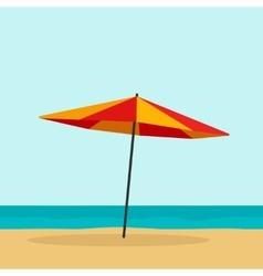 Beach umbrella isolated vector image