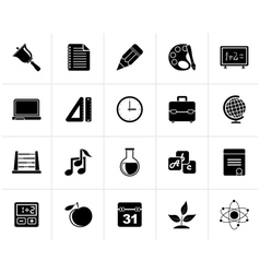 Black education science and studies icons vector