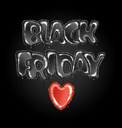 black friday balloons vector image