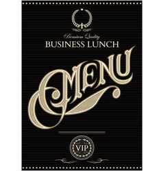 black template for the cover of the menu vector image