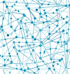 Blue abstract network vector image