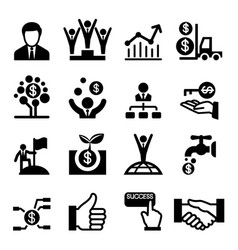 business success icon vector image
