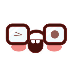 caricature glasses with eye wink expression in vector image vector image