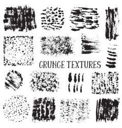collection of black ink abstract grunge vector image
