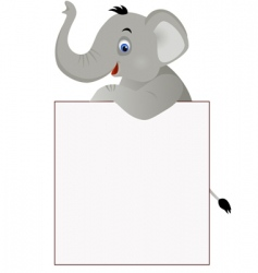 elephant and banner vector image