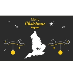 England merry christmas map black vector