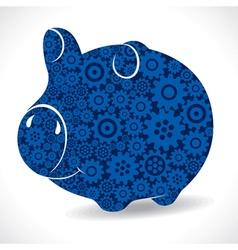 Gear piggy bank stock vector