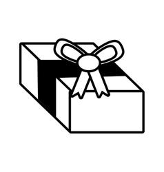 Gift box surprise ornament outline vector
