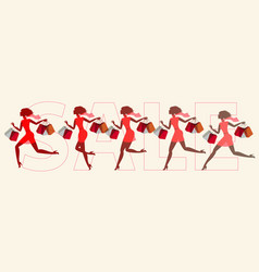Girls run on sale set vector