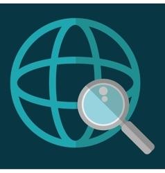 Global lupe social network design vector