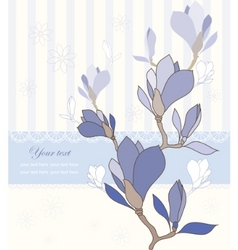 greeting card with magnolia vector image