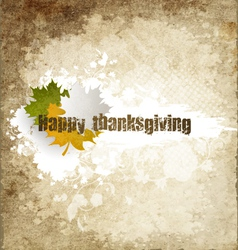 Grunge Happy Thanksgiving vector image